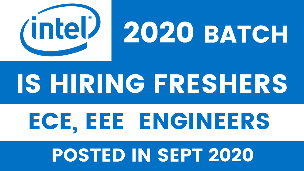 Intel is hiring Freshers for Hardware Engineer Role in Bangalore