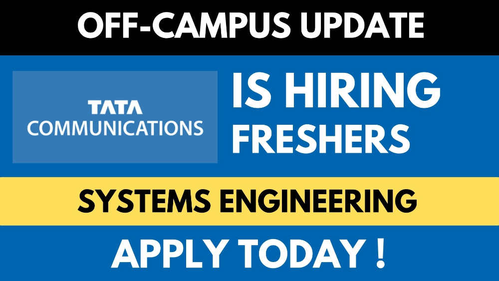 Tata Communications is Hiring Freshers for System Engineer Role