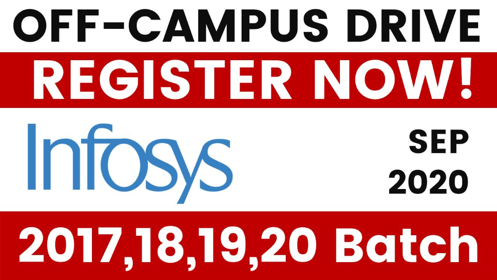 Infosys 2020 Off-Campus Registration Link